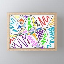 Picasso Eyes Framed Mini Art Print