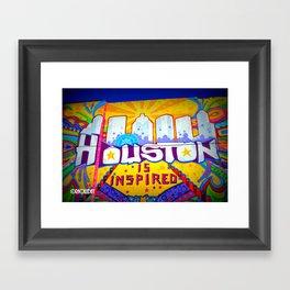 Houston is Inspired Framed Art Print