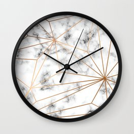 Marble & Gold 046 Wall Clock