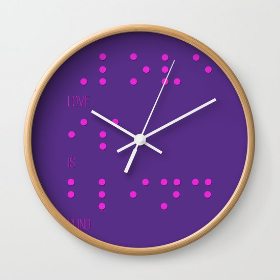 Love is blind (Braille)  Wall Clock