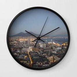 Vesuvius on Naples Wall Clock