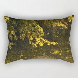 Alley of lime trees in Autumn #2 Rectangular Pillow