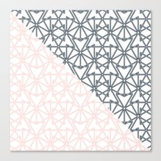 Black and Pink Crop Symmetry Canvas Print