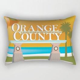 Orange County, California - Skyline Illustration by Loose Petals Rectangular Pillow