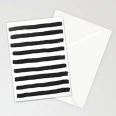 Black paint stripes Stationery Cards