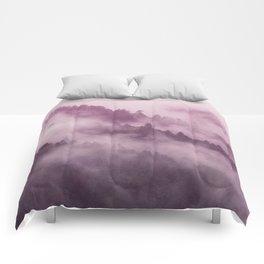 Purple Haze in the Smokey Mountains Comforters