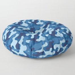 Winter camouflage Floor Pillow