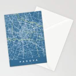 PADOVA Map - Italia | Blue | More Colors, Review My Collections Stationery Cards
