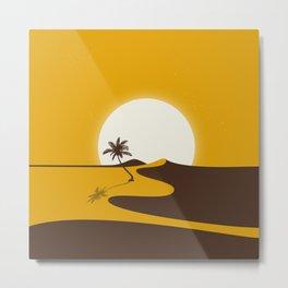 Gold Desert Metal Print