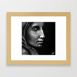 Those Eyes Framed Art Print