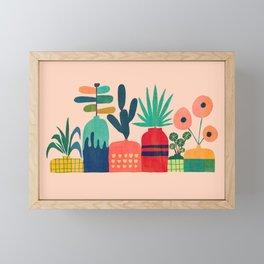 Plant mania Framed Mini Art Print
