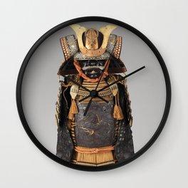 Historical Samurai Armor Photograph (17th-18th Century) Wall Clock