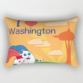 Ernest and Coraline | I love Washington Rectangular Pillow