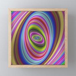 Colorful hypnosis Framed Mini Art Print