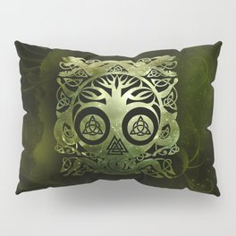 Tree of life - Yggdrasil  and celtic animals Pillow Sham