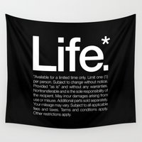 typography Wall Tapestries featuring Life.* Available for a limited time only. by WORDS BRAND™