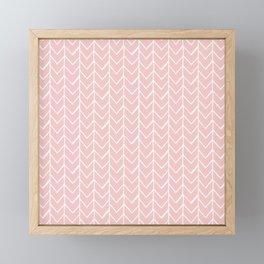 Herringbone Pink Framed Mini Art Print