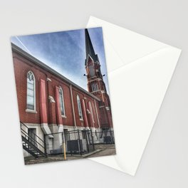 Saint Mary's Catholic Church Side View in Moline, Illinois Stationery Cards