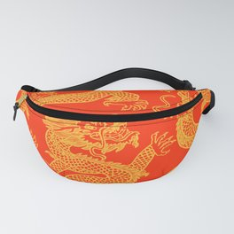 Red and Gold Battling Dragons Fanny Pack