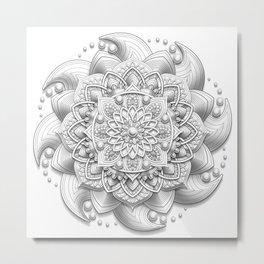 Evolve Mandala Metal Print
