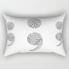 Semicolon Rectangular Pillow