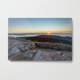 ACADIA NATIONAL PARK MOUNTAIN SUNRISE MAINE OCEAN LANDSCAPE Metal Print