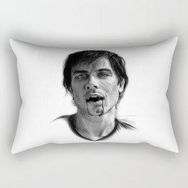 Damon Salvatore Drawing Rectangular Pillow