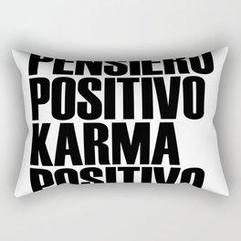 Pensiero positivo Karma positivo Rectangular Pillow
