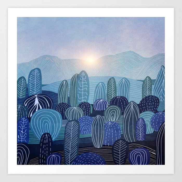 Lines in the mountains 04 Art Print