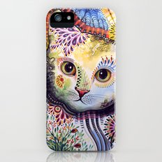 Lucy ... Abstract cat art iPhone (5, 5s) Slim Case