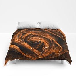 Burning Grunge Rose Comforters