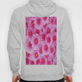Decorative Pink Mums Colored Art Hoody