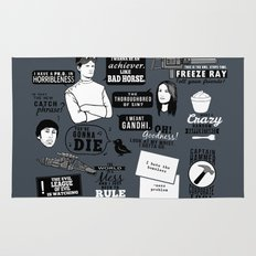 Horrible's Quotes Rug