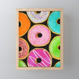 Donuts Framed Mini Art Print