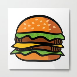 Delicious Burger Metal Print