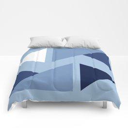 Indigo modern triangle design Comforters