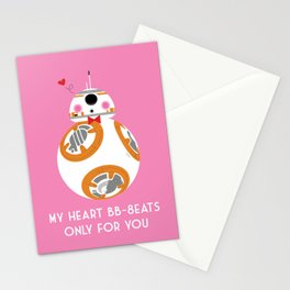 My Heart BB-8eats Only For You Stationery Cards