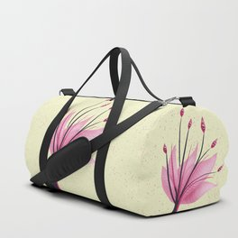 Pink Abstract Water Lily Flower Duffle Bag