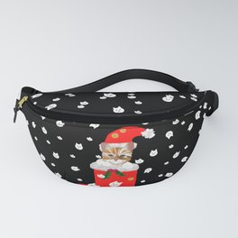 Christmas Kitten Patten Fanny Pack