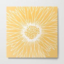 Minimalist Sunflower Metal Print