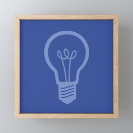 BlueLight Bulb Framed Mini Art Print