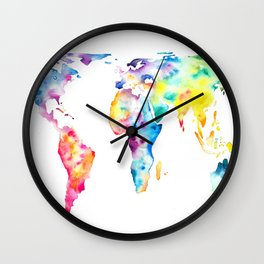 Gall–Peters projection Wall Clock