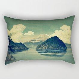 Distant Blues Rectangular Pillow
