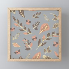 Flower Design Series 23 Framed Mini Art Print