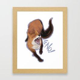 No Fox Framed Art Print