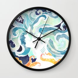 Water has no shape Wall Clock