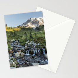 Early Morning Light on Mt Rainier above Edith Creek Stationery Cards