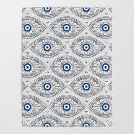 Greek Mati Mataki - Matiasma Evil Eye Pattern #3 Poster