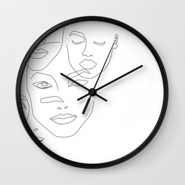 Different beauty Wall Clock