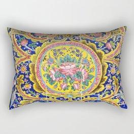Floral Persian Tile Rectangular Pillow